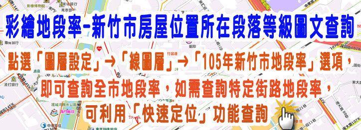 彩繪地段率-新竹市房屋位置所在段落等級圖文查詢