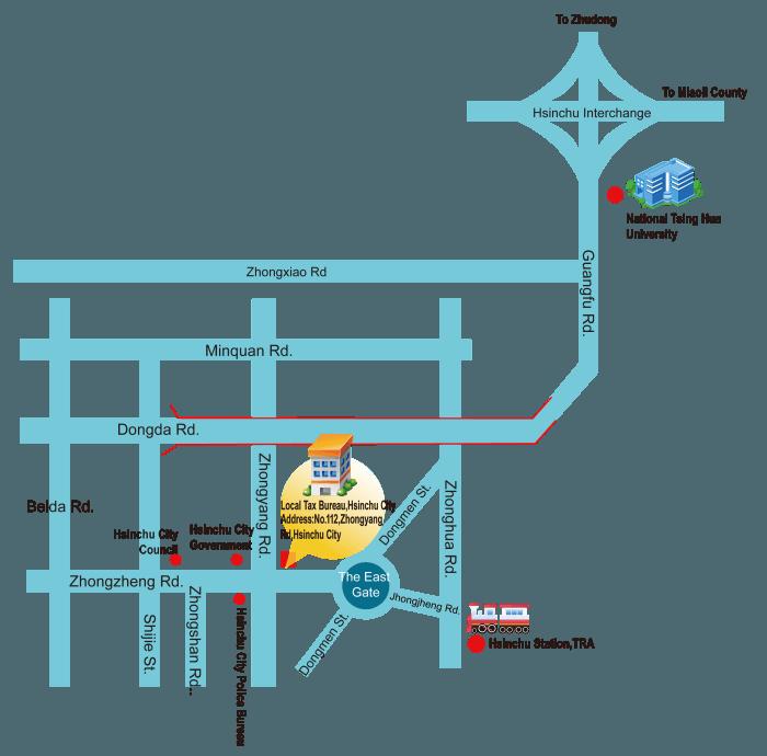 Location Map Local Tax Bureau Hsinchu City